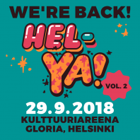 Hel-YA! - tapahtuman juliste