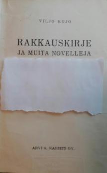 Rakkauskirje ja muita novelleja